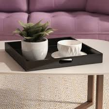 serving tray side table decorative trays you ll love wayfair