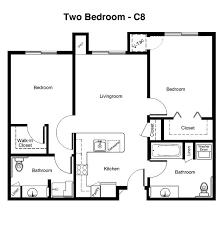 Two Bedroom Floor Plans Senior Living Floor Plans Bozeman Lodge