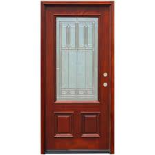 wood doors front doors the home depot