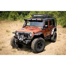 flat gray jeep rugged ridge 11640 10 hurricane flat fender flare kit 07 15 wrangler