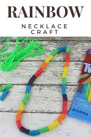 preschool rainbow necklace craft cute and fun craft for kids