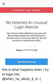 Instagram Log In Suspicious Login Attempt We Detected An Login Attempt We