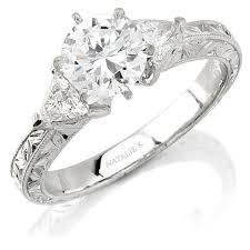 classic diamond rings images Natalie k 14k white gold classic diamond engagem jpg