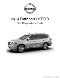 nissan pathfinder hybrid nissan pathfinder hybrid 2014 r52 4 g first responders guide
