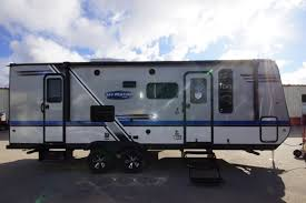 ultra light hybrid travel trailers new 2018 jayco jay feather 23bhm ultralight hybrid travel trailer