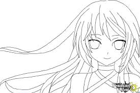 coloring page gorgeous drawing anime steps how to draw step by