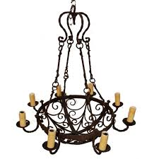 Vintage Wrought Iron Chandeliers Rustic Wrought Iron Chandeliers Design Home Design Ideas