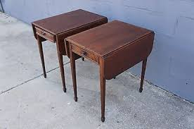 drop leaf end table 2 imperial furniture mahogany sheraton style drop leaf end tables