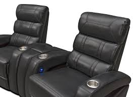 curved home theater seating bravo 3 piece power reclining home theater sectional black