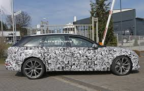 new audi rs4 avant spied will get 500hp electric turbo v6