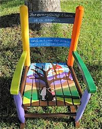 hand painted kids u0027 rocking chair family tree shipping