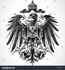 vector crown eagle ornament stock vector 36011644