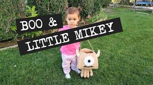 boo and little mikey monsters inc halloween costume youtube