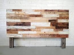 whitewash reclaimed wood headboard customreclaimed king