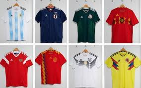 Baju M U Adidas world cup 2018 kits new designs for spain germany and russia