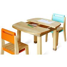 chaise enfant bois chaise à casier bois orange aijaoram06