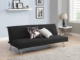 amazon com dhp mica upholstered futon black microfiber kitchen