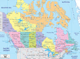 detailed political map of canada ezilon maps