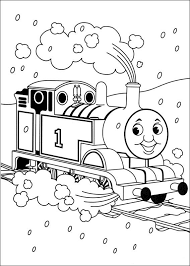 kids fun 56 coloring pages thomas train