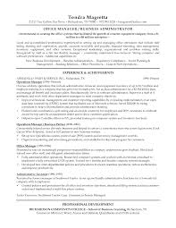 Resume Sample Business Administration by Sample Resume Business Development Report Template