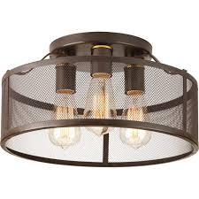 3 light flush mount ceiling light fixtures progress lighting p3452 20 swing 3 light flush mount amazon com