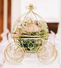 carriage centerpiece the original inspired by disney s fairytale wedding