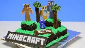 how to make minecraft world cake video recipe by bhavna youtube