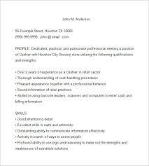 Cashier Sample Resume by Sample Cashier Resume Head Cashier Resume Example Example Of