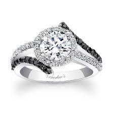 Halo Wedding Rings by Barkev U0027s Black Diamond Halo Engagement Ring 7857lbk