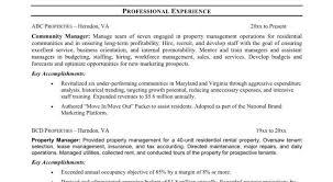 resume sle property manager resume awesome property manager