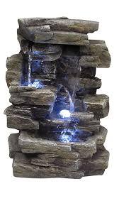 waterfall home decor amazon com alpine win220 waterfall tabletop fountain with white