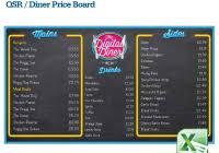 digital menu board templates 1 best and various templates ideas