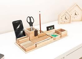 Wood Desk Organizer Oak Wood Desk Organizer Wooden Bureau Organizer