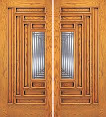 Entry9 by Entry 9 Panel Wood Double Door With Lite