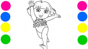 dora the explorer coloring pages dora u0027s summer explorer coloring book pages video for kids with