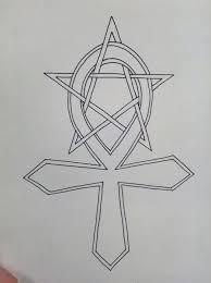 ankh pentagram tattoo by lone wolf wandering on deviantart
