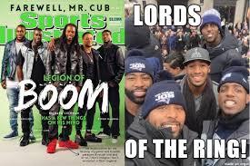 Nfl Bandwagon Memes - lotr patriots secondary seattle legion of boom nfl meme sports