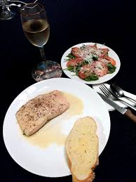 poached salmon in white wine the surprised gourmet