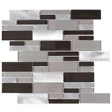 Gray Glass Tile Backsplash by 79 Best Aluminum Mosaic Tiles Images On Pinterest Kitchen
