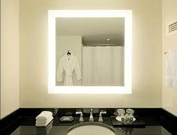 Square Bathroom Mirror by Backlit Led Mirror Square Led Backlit Mirror With 4 Sided Edge