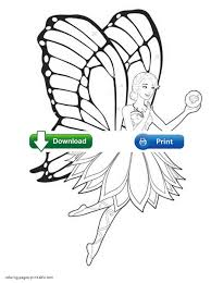 fairy princess coloring pages print