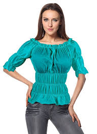 elastic waist blouse s pirate blouses shirts and tops deluxe theatrical