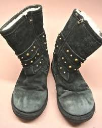 s ugg australia leather boots s ugg australia suede leather boots studded detail straps