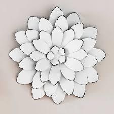 white color metal flowers wall art good looking wonderful image
