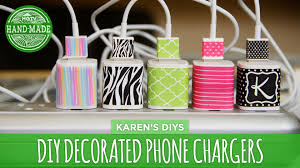 Diy Phone Charger | diy decorated phone chargers hgtv handmade youtube