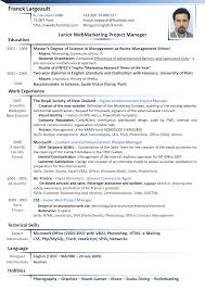 Resume Australia Examples 6 Cv In English Form Reporter Resume Example Of Resume In