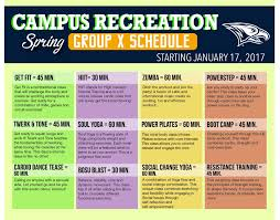 Colors Of Spring 2017 Spring 2017 Group Exercise Schedule