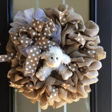2015 wreaths decor ideas burlap easter lamb wreath 23 natural