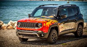 jeep renegade concept jeep and harley davidson create flame painted renegade suv u2013 news