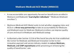 webinar medicare medicaid accountable care organization aco model u2026